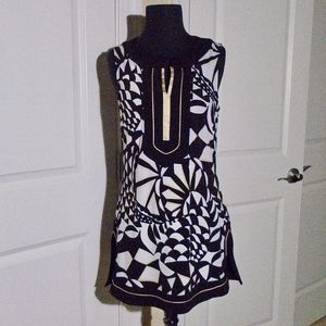 WHBM Abstract Print Jersey Tunic Top M EXCELLENT!